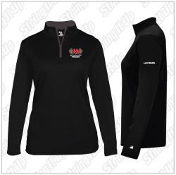 Alumni/Parents Only - Half Hollow Hills Fencing Women's Badger Sport B-Core 1/4 Zip Pullover - Black