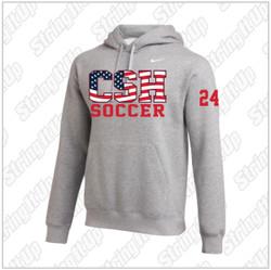 CSH Girls Soccer Nike Club Fleece Pullover Hoodie in Grey