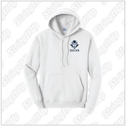HHS Soccer Adult Port & Company® Core Fleece Pullover Hoodie - White