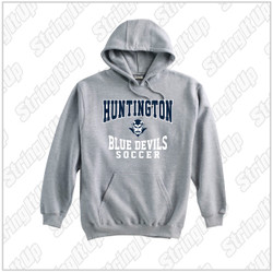 HHS Soccer Adult Pennant Super-10 Hoodie - Grey