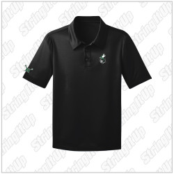 Wolf Pack Youth Port Authority® Silk Touch™ Performance Polo - Black