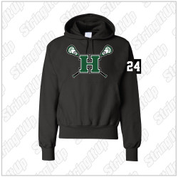 Wolf Pack Adult Champion - Reverse Weave Hooded Sweatshirt - Black