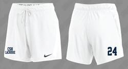 CSH Girls Lacrosse Nike Women's Attack Shorts - White