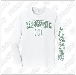 Harborfields Booster Club Port & Company® Long Sleeve Fan Favorite™ Tee