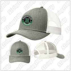 Harborfields Booster Snapback Trucker Hat - Heather/White