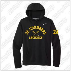 36 Chambers Lacrosse - Nike Club Fleece Pullover Hoodie - Black