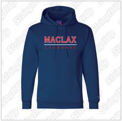 MacLax Youth Champion - Double Dry Eco Youth Hooded Sweatshirt - Navy