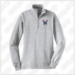 MacLax - Ladies Sport-Tek® 1/4-Zip Sweatshirt - Athletic Heather Grey