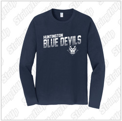 HHS Booster - Port & Company® Long Sleeve Fan Favorite™ Tee Navy