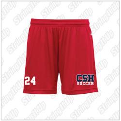CSH Soccer Ladies B-Core Shorts - Red