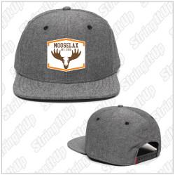 MooseLax Headwear Chambray Flat Bill Snapback New Logo