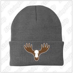 MooseLax Port & Company® - Knit Beanie - Grey New logo