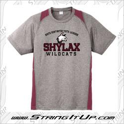 SHYLax Sport-Tek Heather Colorblock Contender Tee - YOUTH