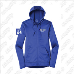 Duke Women's Nike Therma-FIT Full-Zip Fleece Hoodie