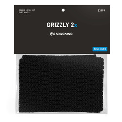 String King 12D Grizzly 2X Mesh Stringing Black