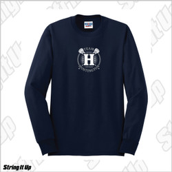 Team Huntington Jerzees Men's Long Sleeve Cotton Tee