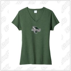 Harborfields Lacrosse Ladies Port & Company ® Fan Favorite ™ Blend V-Neck Tee