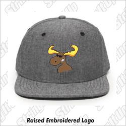 MooseLax Headwear Chambray Flat Bill Snapback
