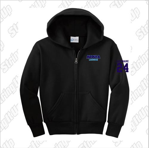 Medusa Lacrosse Port & Company® Core Fleece Full-Zip Hooded Sweatshirt -Youth