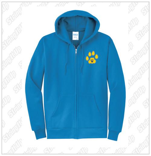 Oquenock Port & Company® Core Fleece Full-Zip Hooded Sweatshirt - Royal