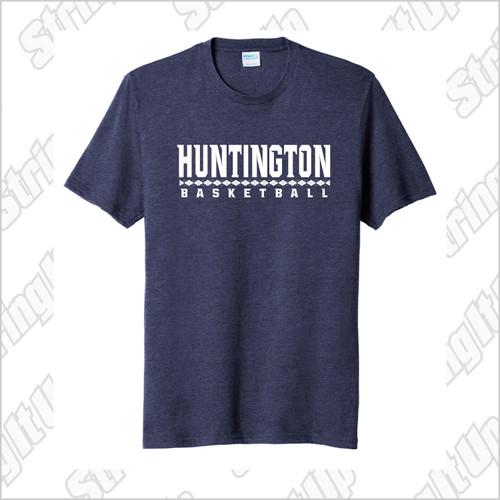 Huntington Basketball Adult Port & Company ® Fan Favorite ™ Blend Tee