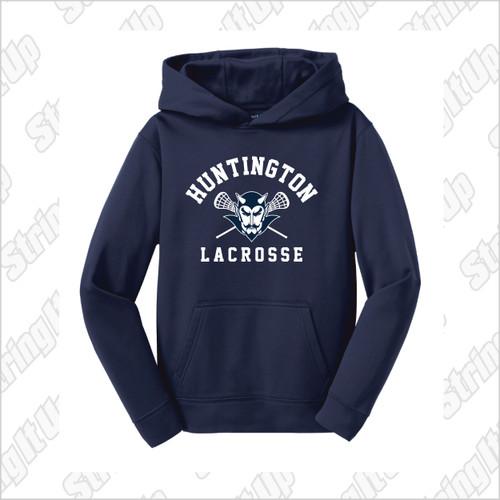 Huntington Lax Youth Sport-Tek® Sport-Wick® Fleece Hooded Pullover