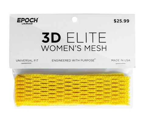 Epoch 3D Women Lacrosse Mesh Yellow