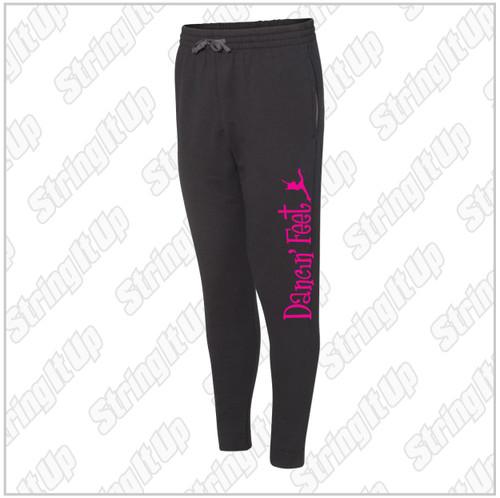 Dancin' Feet - Adult JERZEES - NuBlend® Sweatpants - Black
