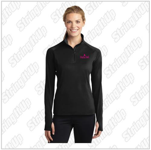 Dancin' Feet  Ladies Sport-Tek® Sport-Wick® Stretch 1/2-Zip Pullover