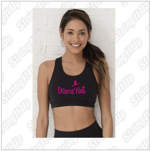 Dancin' Feet - Women's Boxercraft - Support Your Team Sports Bra