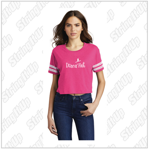 Dancin' Feet - Ladies District ® Scorecard Crop Tee
