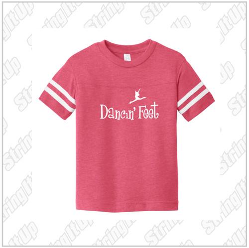 Dancin' Feet -Toddler Rabbit Skins ™ Football Fine Jersey Tee