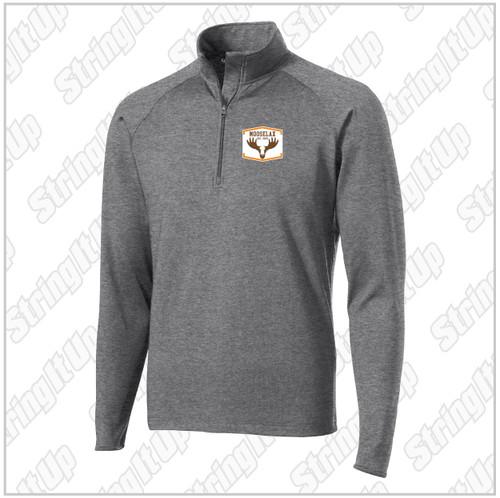 MooseLax Adult Sport-Tek® Sport-Wick® Stretch 1/2-Zip Pullover