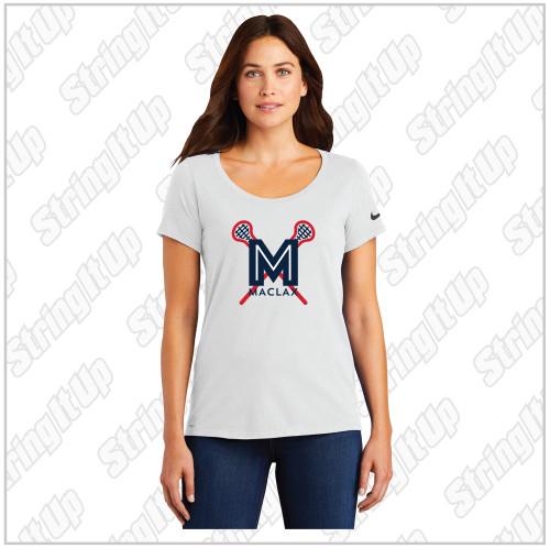 MacLax Nike Ladies Dri-FIT Cotton/Poly Scoop Neck Tee