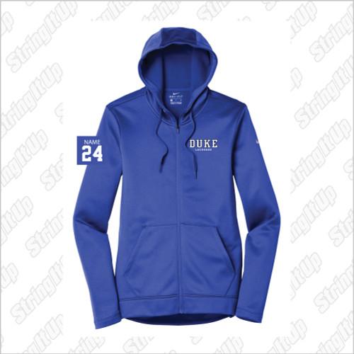 Duke Women's Nike Therma-FIT Full-Zip Fleece Hoodie
