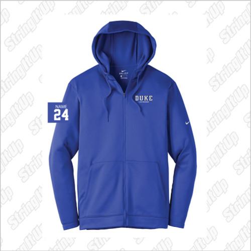 Duke Men's Nike Therma-FIT Full-Zip Fleece Hoodie