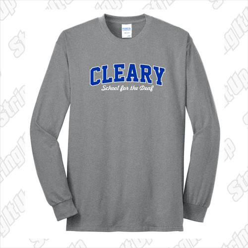 Cleary School Adult Long Sleeve Tee Shirt