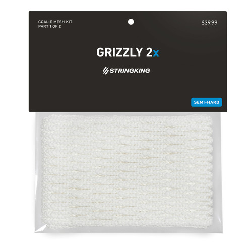 String King 12D Grizzly 2X Mesh Stringing White