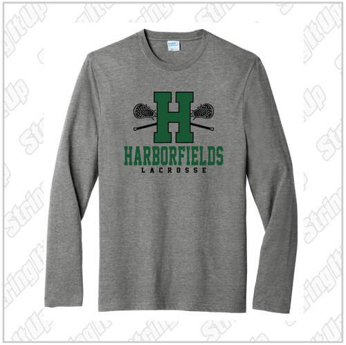 Harborfields Lacrosse Youth Port & Company® Youth Long Sleeve Core Cotton Tee