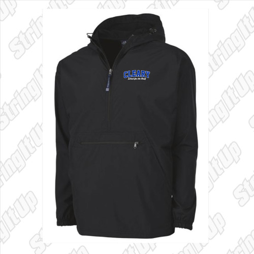 Cleary School Adult Charles River Pack-N-Go Pullover