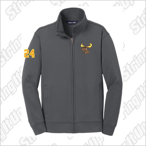 z.Players Only* MooseLax Youth Sport-Tek® Sport-Wick® Fleece Full-Zip Jacket