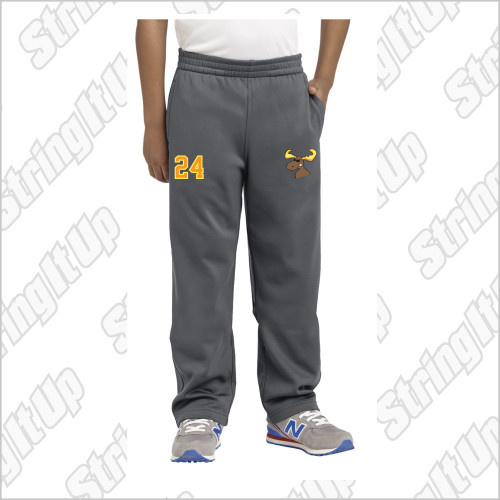 MooseLax Youth Sport-Tek® Sport-Wick® Fleece Pant - RUNS BIG!