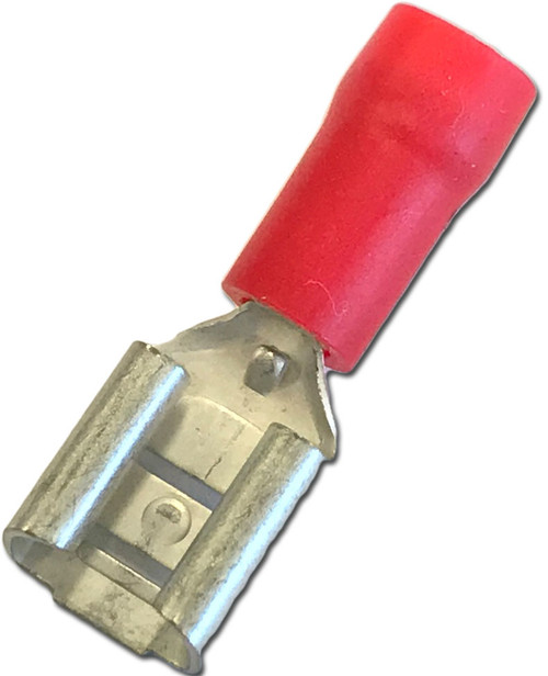 Insulated Red Female 6.3mm Terminal