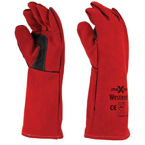 Red Flame Kevlar Welders Gloves