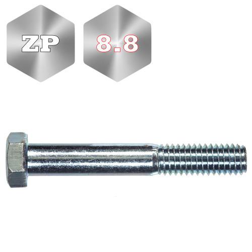 8.8 Metric Head Head Bolt Zinc Plated Coarse Thread