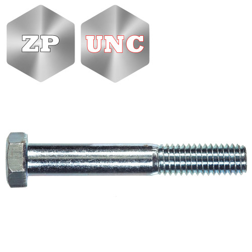 Grade 8 Imperial Head Head Bolt Zinc Plated UNC Thread