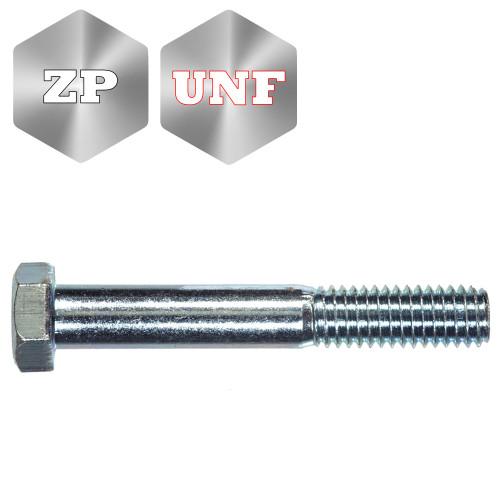 Grade 8 Imperial Head Head Bolt Zinc Plated UNF Thread