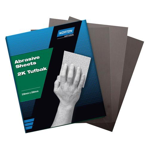 Norton 2K Tufbak Aluminium Oxide Sanding Sheets