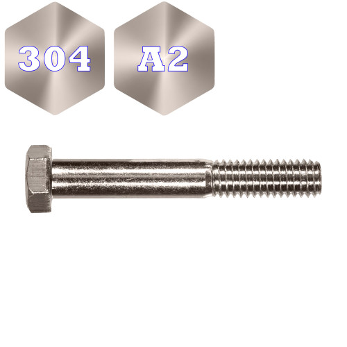 Metric 304 Stainless Steel Hex Bolt (F1005)