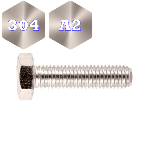 Metric 304 Stainless Steel Hex Set Screw (F1015)
